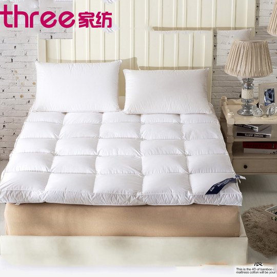 Thick 10cm feather velvet mattress foldable tatami bedding double 1.5 / 1.8m hotel mattresses