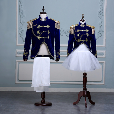 Men's and women's military band uniforms cosplay sailor clothes photo studio photo stage costumes British style naval military dress suit