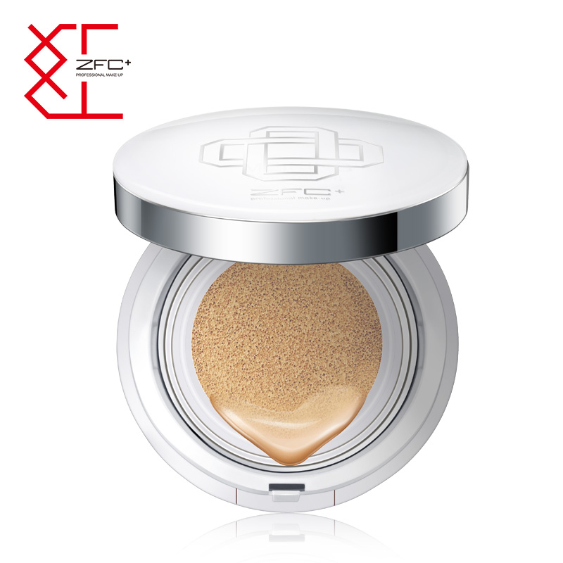 ZFC red brand satin silky cushion CC Cream Concealer nude makeup refreshing moisturizing isolated BB cream liquid foundation