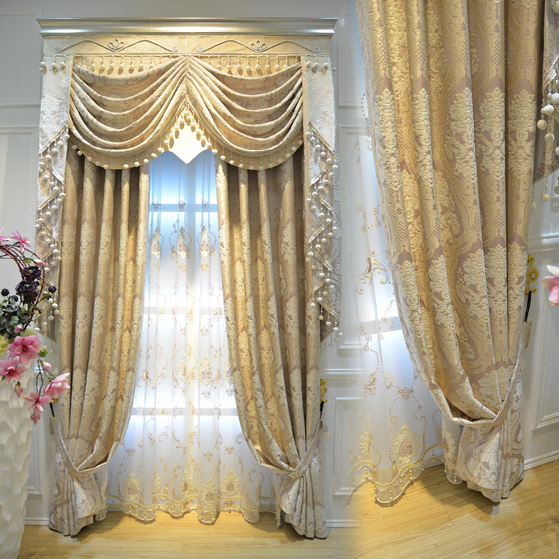 Luxury Atmosphere Chenille European Thickened Curtain Soundproof Living  Room Bedroom High End Curtain Fabric Custom