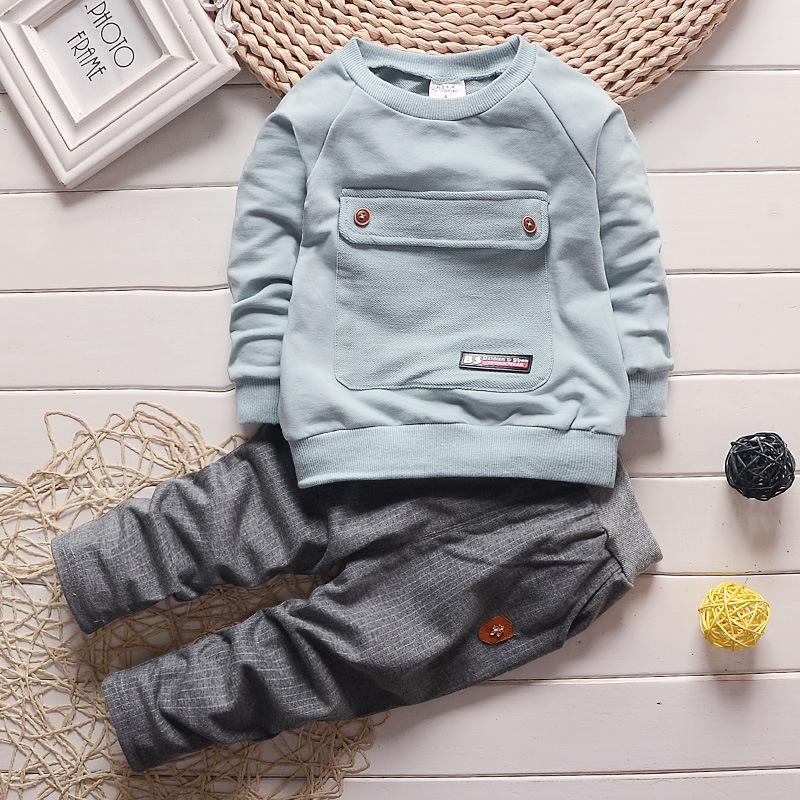 婴儿童装春秋套装0-1-2-3岁 男宝宝衣服女童秋季纯棉运动外出服潮