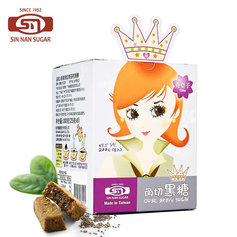 台湾进口 SN 新南 角切古法黑糖块 200g