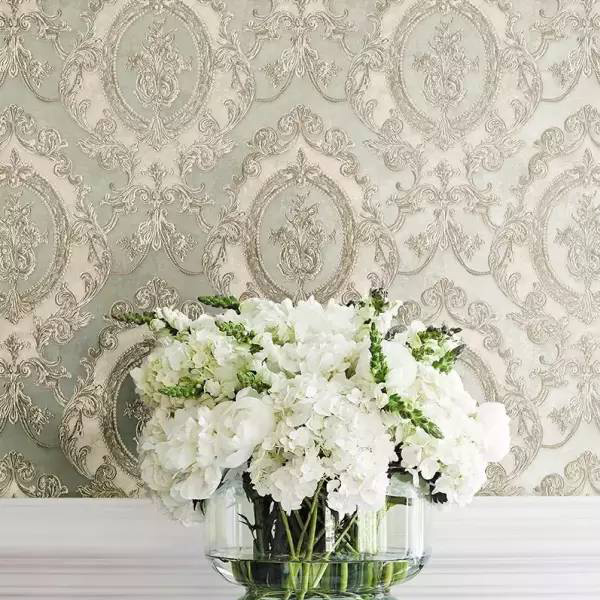 ROSSBED Classic European Style Wallpaper Curtains With Imported Material Baroque Soft