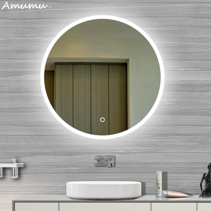 Model Of Bathroom mirror bathroom mirror to wash your face in the mirror hanging Toilet frameless LED light - Best of custom bathroom mirrors Contemporary
