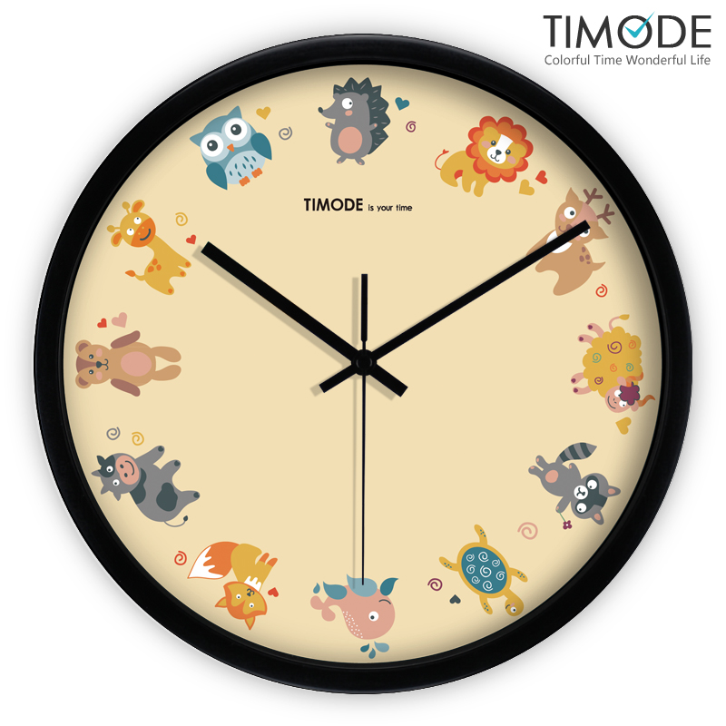 USD 60.38] timode preferred when the wall clock cartoon child ...