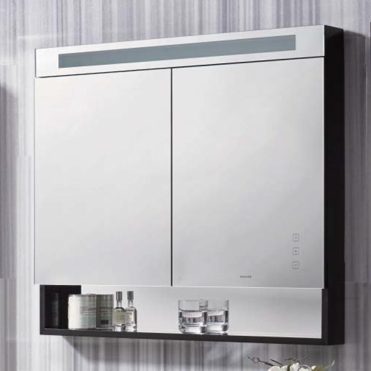 Kohler K 99932T NA Star 900mm Mirror Cabinet(containing The Open Horizontal  Cabinets With Lights Anti Fog)