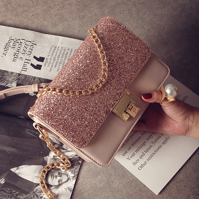 d75723338120f حقيبة صغيرة 2018 حقائب جديدة المد أزياء الكورية شخصية الترتر حقيبة صغيرة  حقيبة الكتف البرية سلسلة ...