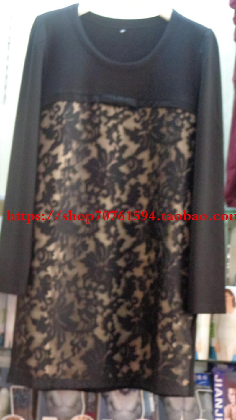 时尚中艺 2016春季新款蕾丝衫 6611 中长款套头翻领女衫裙