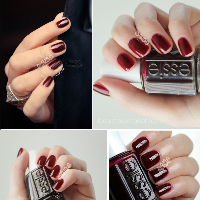 Deep Wine Nail Polish: [USD 8.85] American ESSIE Nail Polish Autumn And Winter