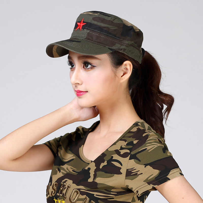 c21b5c59d7d Outdoor camouflage hat men s special forces flat cap five-pointed star  military cap female cotton