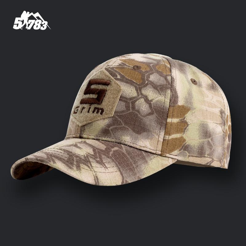 51783 新款军迷户外迷彩棒球帽 蟒纹战斗帽奔尼帽作训帽鸭舌帽男