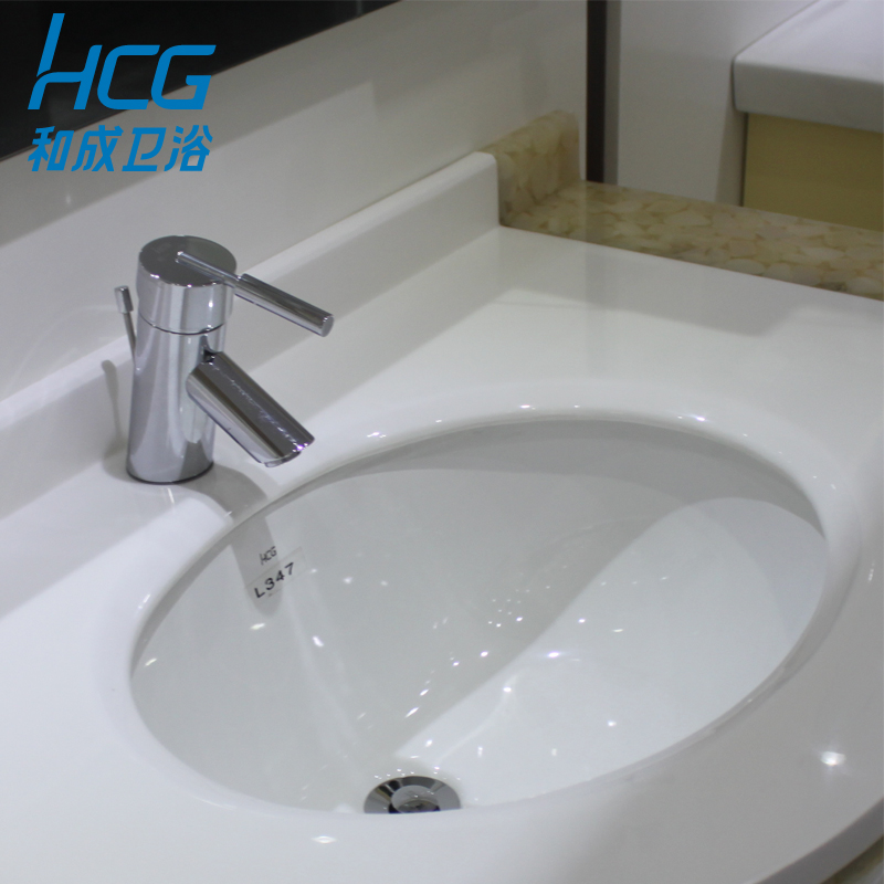 And Into The Bathroom Hcg Under The Basin Oval Bathroom Cabinet Ceramic Counter Top Basin L347