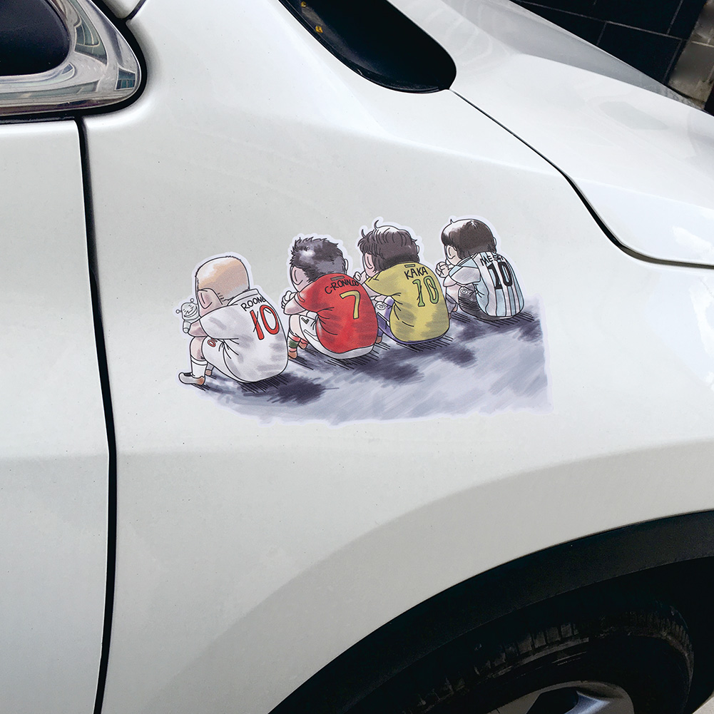 Car scratches decorative cover body stickers messi football baby metal car stickers c roche champion waterproof stickers