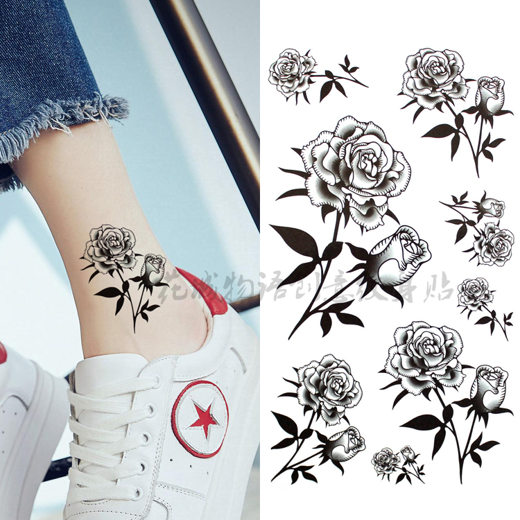 Usd 548 Flower City Story New Black And White Roses Waterproof