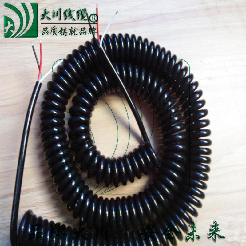 Spring Wire Spiral Cable Spring Wire 1 Core 2 Core 3 Core