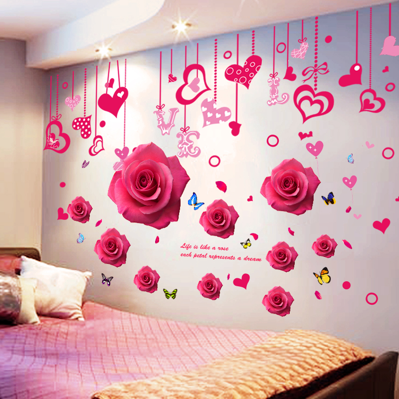 a066f8e2a8e 3D wall stickers stickers girl heart layout bedroom warm room wall wall  decorations creative self- · Zoom · lightbox moreview · lightbox moreview  ...