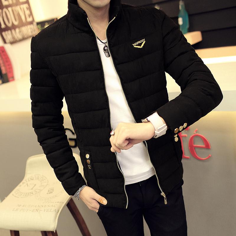 2015冬装轻薄羽绒服男士韩版短款立领青年加厚修身棉服男外套潮