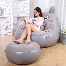 Lazy sofa Totoro sheets people inflatable sofa bedroom cute recliner small lunch break fashion cushion sofa chair