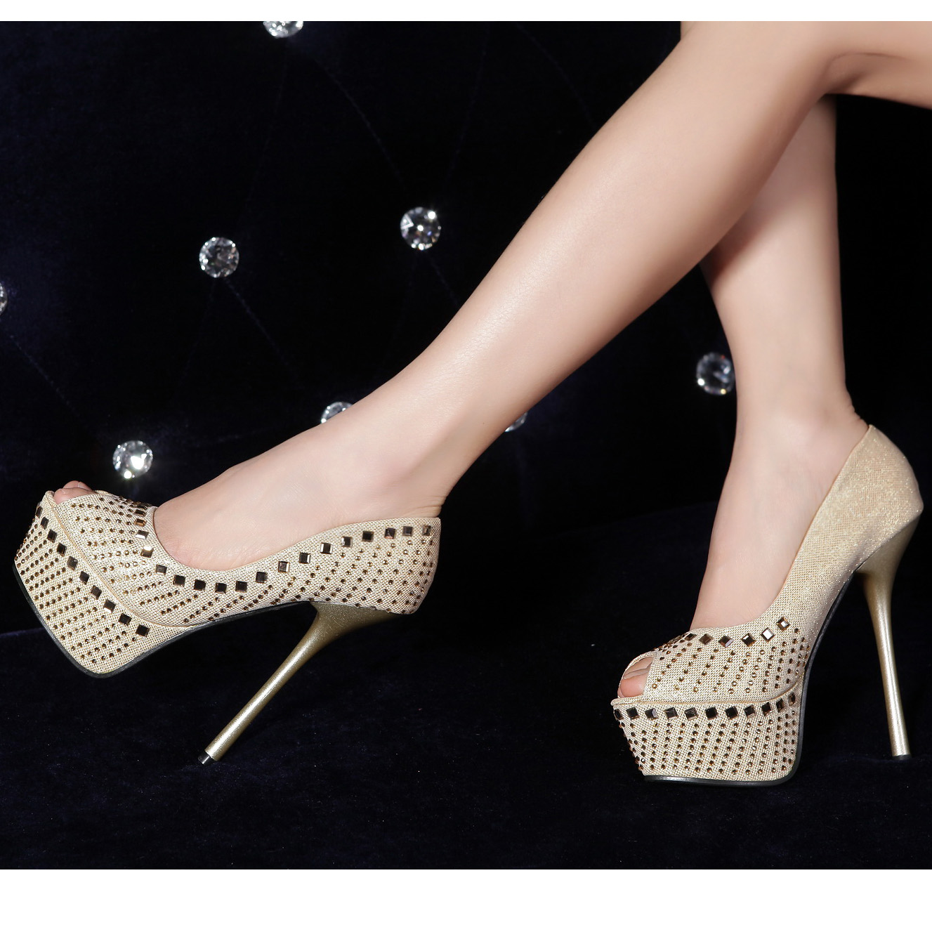 15 cm high heel stripper mules back from the gym 3