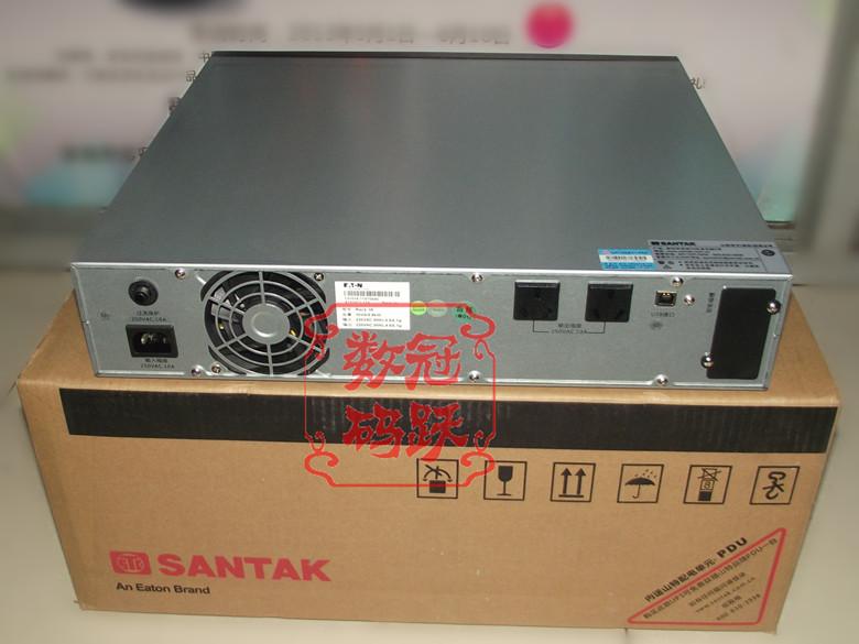 山特 UPS不间断电源 C1KR 机架式/1KVA/800W/内置2个9AH/2U