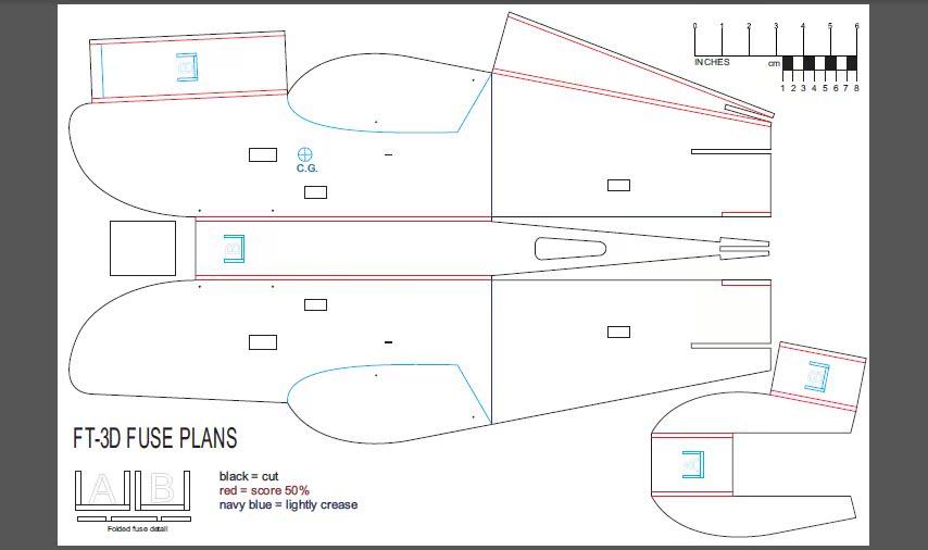纸飞机模型制作图_