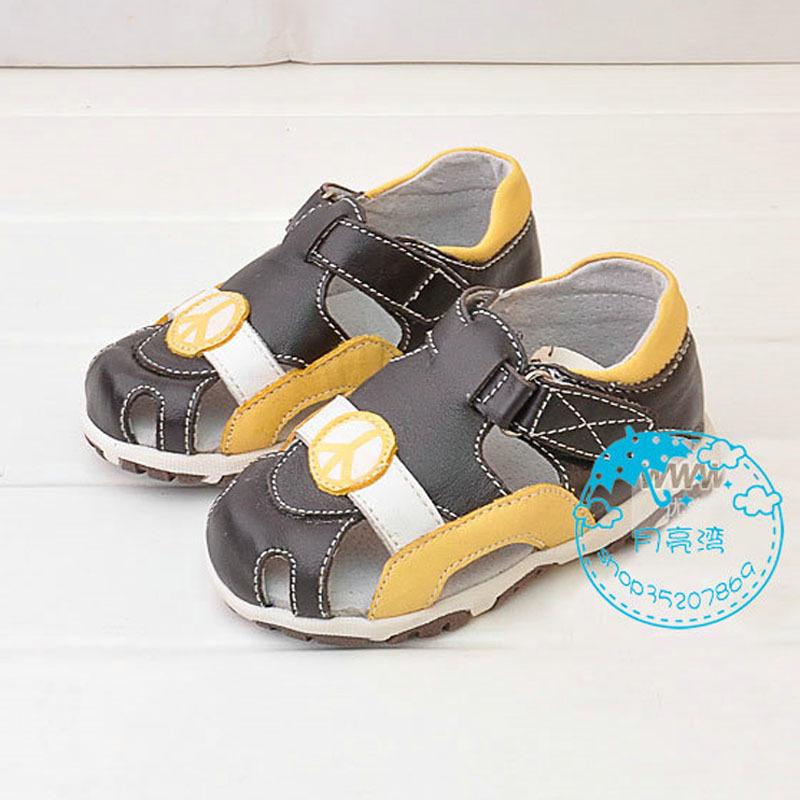 童鞋〓Zookee新款真皮包头凉鞋 专柜正品 zk1050咖啡色