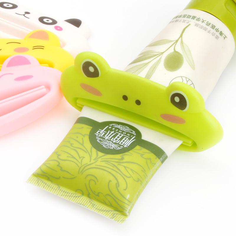 居家家 创意卡通动物造型挤牙膏器 韩国懒人化妆品洗面奶挤压器