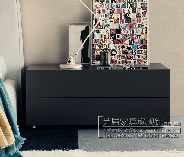 床头柜简约新款现代白色烤漆个性床边柜现代宜家特价储物柜2斗柜