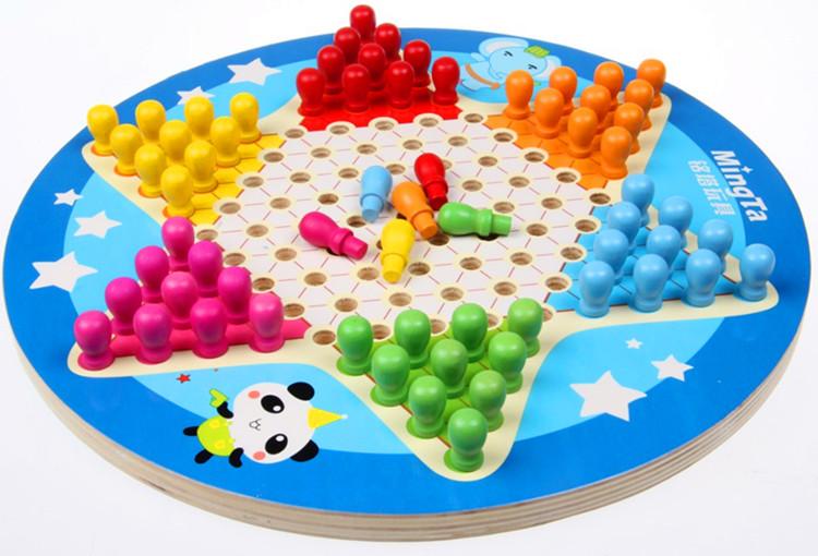 六角跳棋 中国跳棋五子棋 学生儿童亲子互动桌面游戏 益智玩具图片
