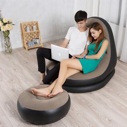 充气沙发床懒人沙发现代简约单人家用成人客厅椅子卧室便携式躺椅