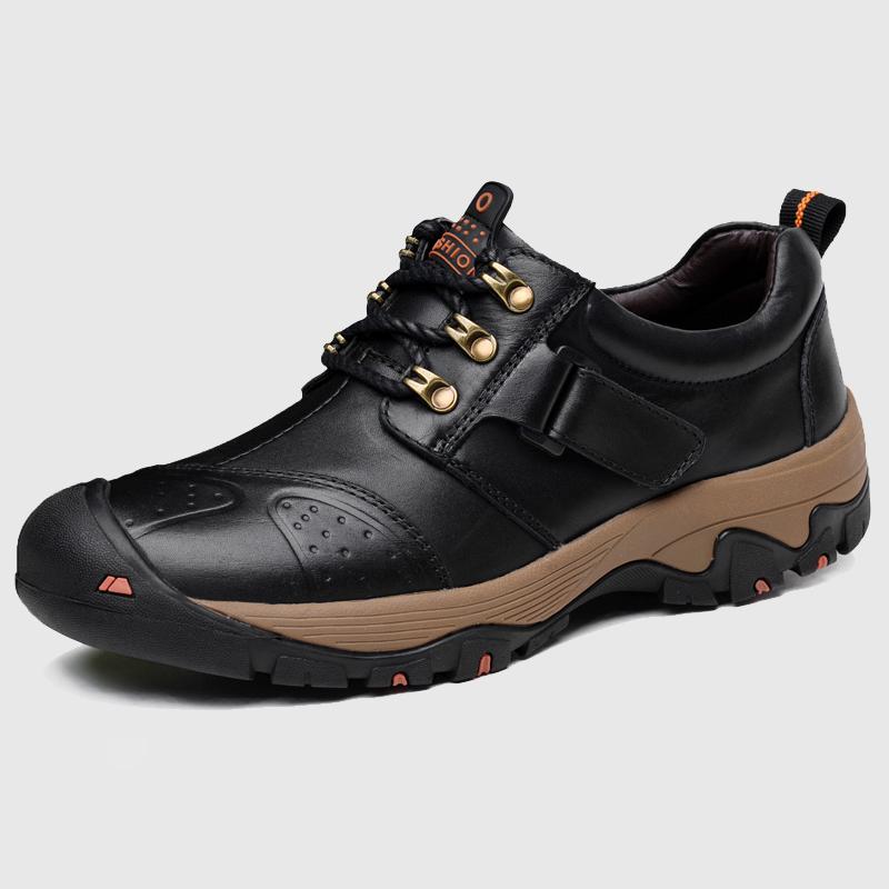 春季户外运动休闲男鞋真皮头层牛皮耐磨登山鞋男士皮鞋防滑旅游鞋