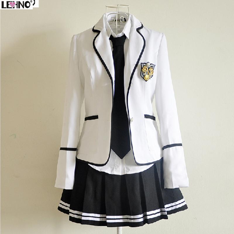英伦风春夏学生校服套装日本水手服jk制服裙韩版韩国高中女学生服