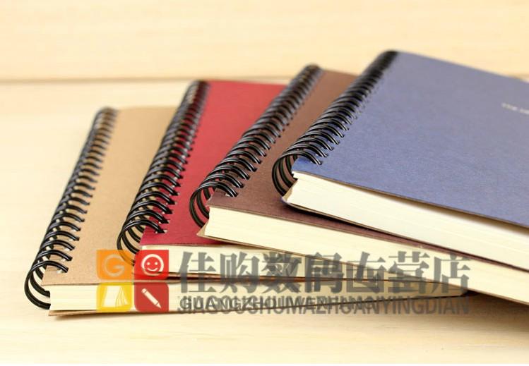 2本包邮A5线圈本笔记本记事本办公用品学生文具练习本牛皮本本子