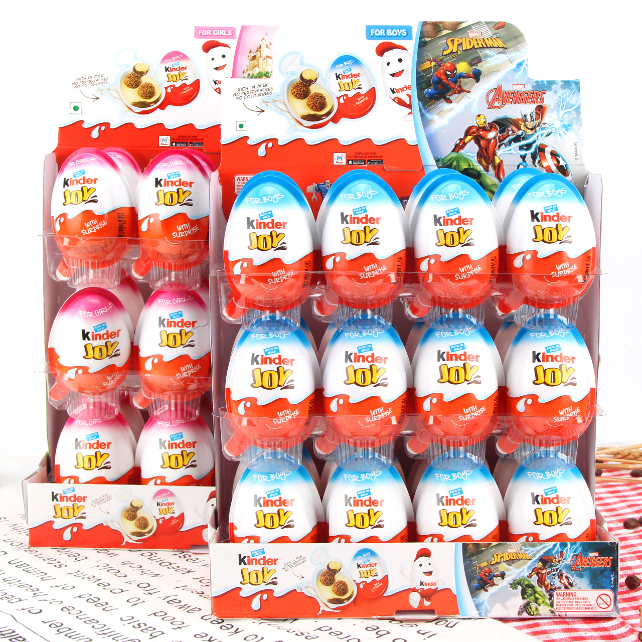 费列罗进口健达奇趣蛋巧克力蛋出奇蛋男孩女孩版24个零食儿童礼物