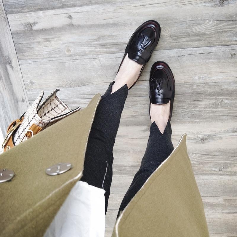 英伦风女鞋 真皮学生小皮鞋 低跟复古乐福鞋 懒人鞋豆豆鞋鞋子女