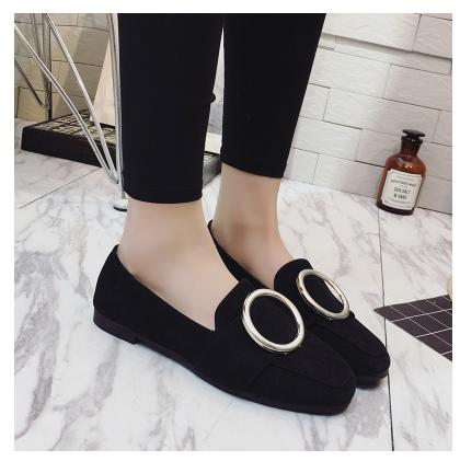 社会豆豆鞋女夏季2016新款 低跟平底懒人鞋单鞋 韩版学生百搭春季