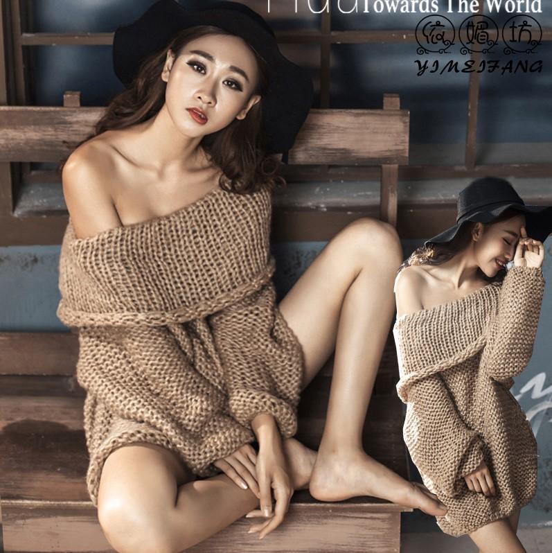 影楼写真拍照服装摄影成人私房毛衣个性时尚性感ds艺术写真服饰女