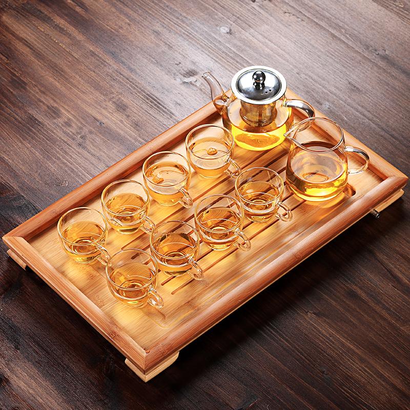 耐热玻璃喝茶茶壶茶杯套装家用简约功夫过滤加厚透明整套茶具防爆