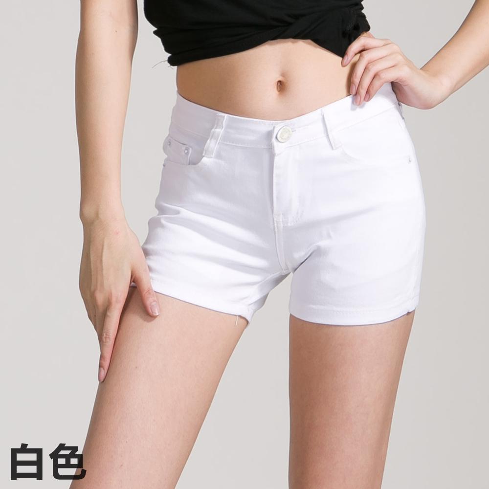 2015春夏季新款帖色牛仔短裤女装显瘦女裤修身热裤女士休闲裤子