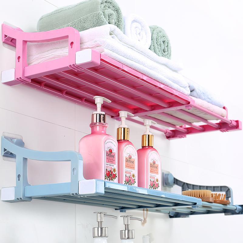 收纳置物架组合厨房免床头挂式打孔墙面隔板卫生间家用盒实用悬