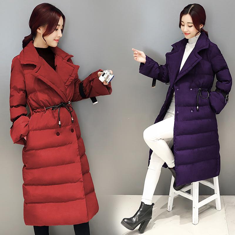 冬品牌折扣店女装专柜正品清仓剪标唯品会特价中长款显瘦羽绒棉衣