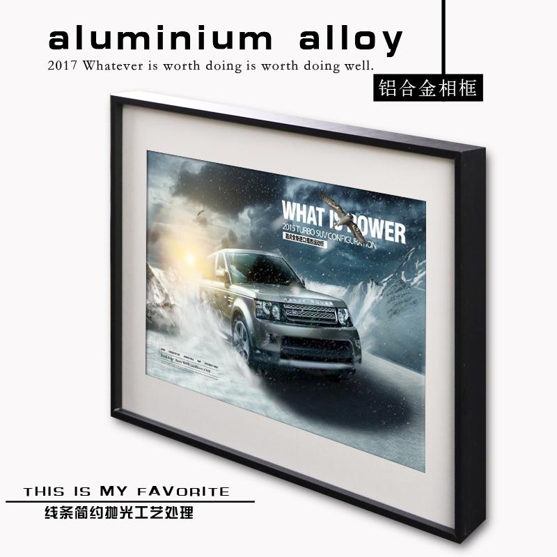 创意铝合金框广告海报照片相框画框营业执照框金属型材定制挂墙