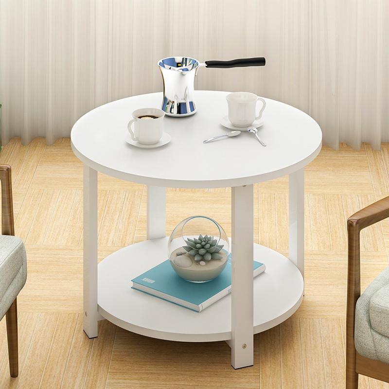 欧式茶几简约卧室迷你床头小圆桌子客厅圆形休闲小茶几小户型