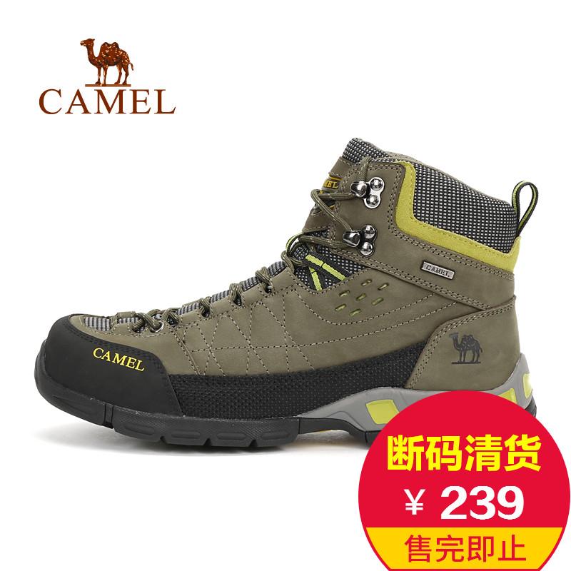 【断码清货】CAMEL骆驼户外登山鞋 头层牛皮男鞋高帮耐磨登山鞋
