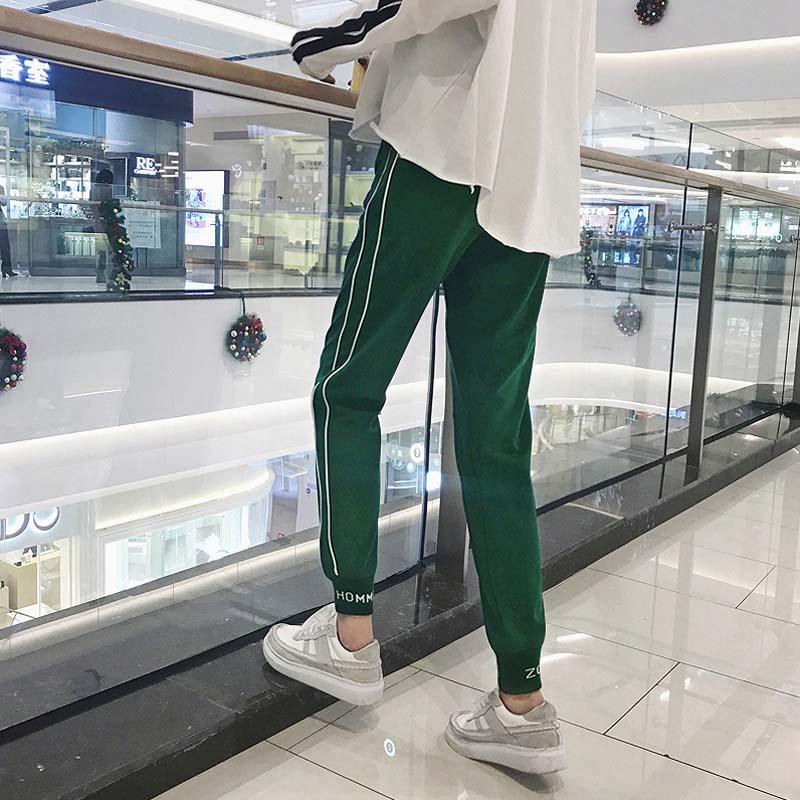运动裤女学生韩版宽松原宿bf哈伦裤嘻哈少女裤子夏季九分休闲裤潮
