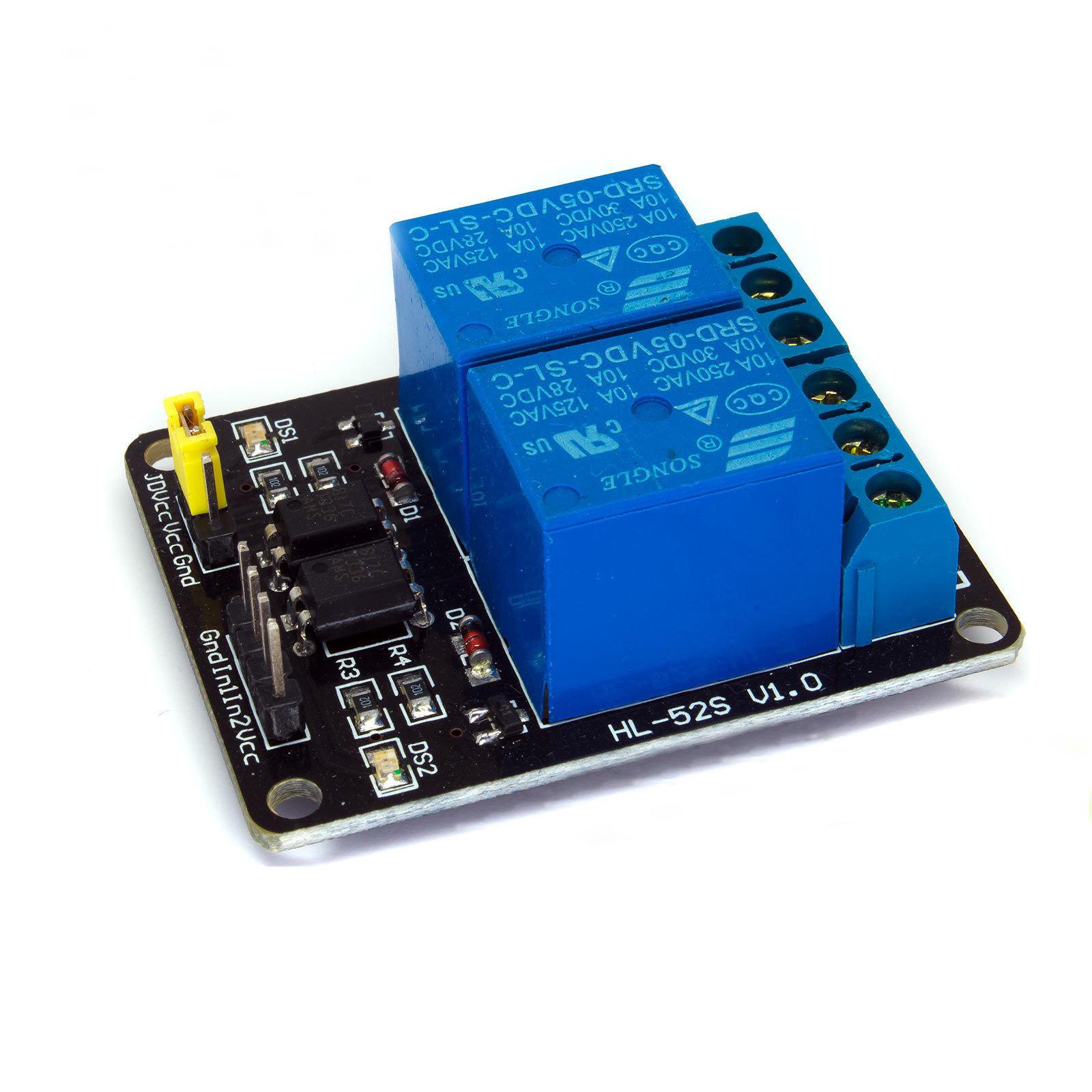 继电器 5V 2路带光耦隔离2Channel Relay Module Board 模组
