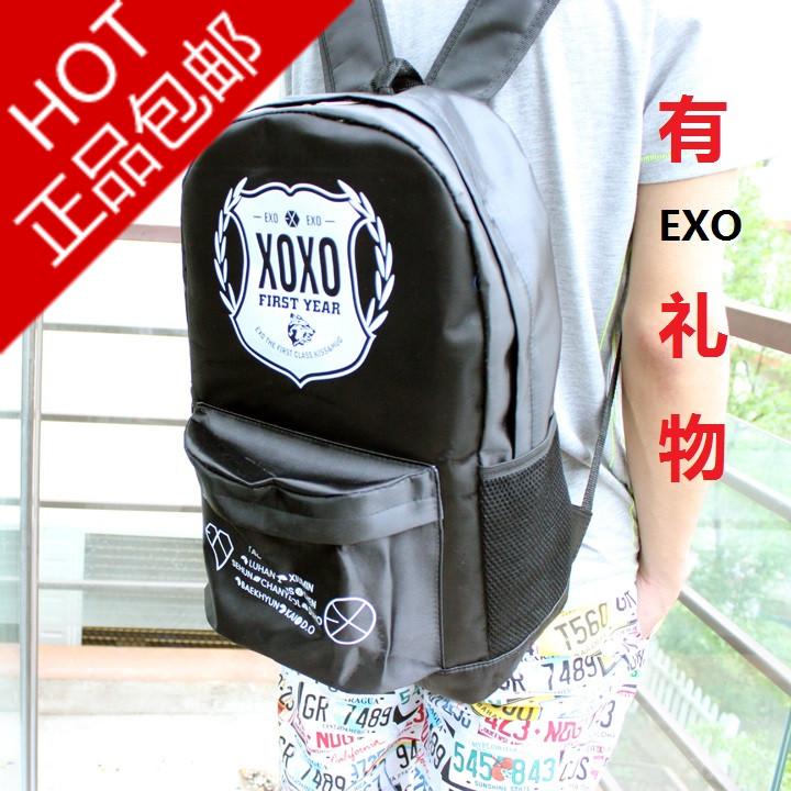 exo书包双肩背包 exo同款书包双肩背包