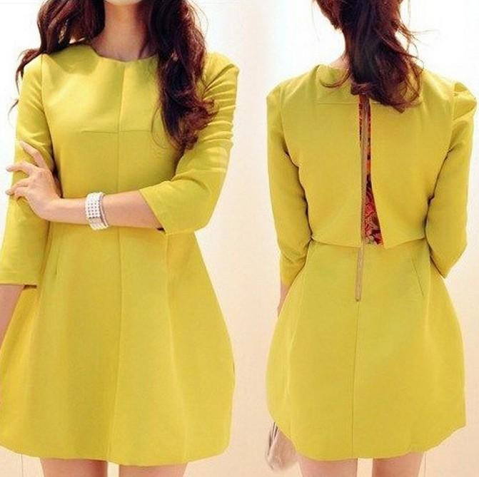 2014春装新款圆领气质时尚OL职业通勤假两件韩版显瘦