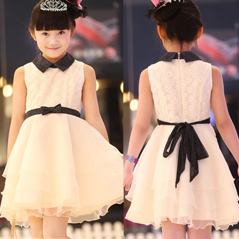 公主裙女童白色纱裙 女孩的公主纱纱裙