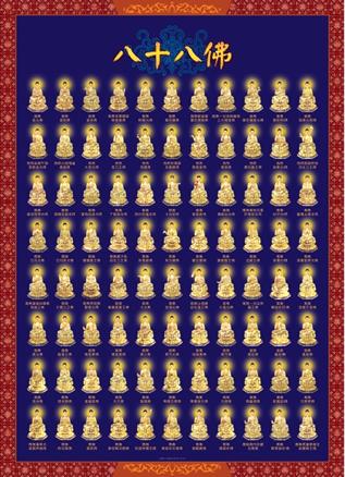 佛教结缘八十八佛超高清圣像过目增福罪无量佛像 请广为流传结缘